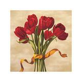 Bouquet Rubino Giclee Print by Lisa Corradini