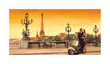 Lovers in Paris Giclee Print by Edoardo Rovere
