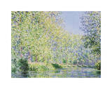 The Epte River near Giverny Impressão giclée por Claude Monet