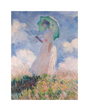 Woman with Parasol Giclee Print by Claude Monet