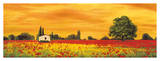 Field of Poppies Giclee Print by Richard Leblanc