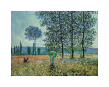 Felder im Frühling Giclee Print by Claude Monet