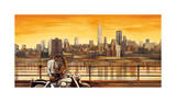 Lovers in New York Giclee Print by Edoardo Rovere
