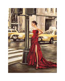 Woman in New York Giclee Print by Edoardo Rovere