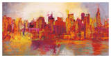 Brian Carter - Abstract New York City - Giclee Baskı