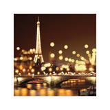 City Lights-Paris Impressão giclée por Kate Carrigan