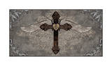 Cross with Wings Giclee Print by Brandon Glover