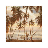 Palms on the Water I Giclee Print by John Seba