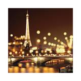 City Lights-Paris Giclée-tryk af Kate Carrigan