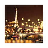 City Lights-Paris Wydruk giclee autor Kate Carrigan