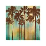 Aqua Palms I Giclee Print by John Seba