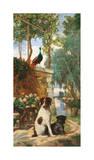 Panneau décoratif aux chien et Giclee Print by Charles Dugasseau