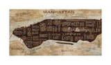 Manhattan Neighborhoods Giclee Print by Luke Wilson