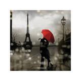 Paris Romance Giclée-tryk af Kate Carrigan