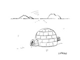 Igloo with air conditioning - Cartoon Premium Giclee Print by David Sipress