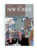The New Yorker Cover - November 10, 2014 Regular Giclee Print by Chris Ware
