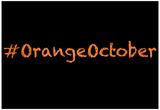 Orange October Print