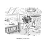 """Does flannel go with camo?"" - New Yorker Cartoon Premium Giclee Print by Trevor Spaulding"