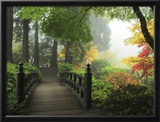 Portland Japanese Garden in Autumn, Portland, Oregon, USA Framed Photographic Print by Michel Hersen