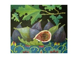 Figs on Black, 2014 Giclee Print by Jennifer Abbott