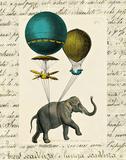 Elephant Ride I v.2 Print by Sue Schlabach