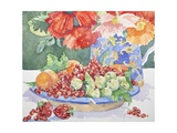 Fruit on a Plate, 2014 Giclee Print by Jennifer Abbott