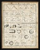 Geometric Chart I Prints