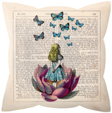 Alice in Wonderland Pillow Throw Pillow