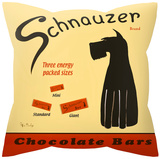 Schnauzer Chocolate Bars Pillow Throw Pillow