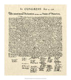 Declaration of Independence Doc. Giclee Print