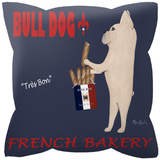 Bull Dog French Bakery Pillow Throw Pillows