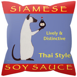 Siamese Soy Sauce Pillow Novelty