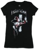 Juniors: Batman - Harley Quinn (silver foil) T-Shirt