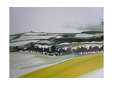 Southstoke in the Snow, 2012 Giclee Print by Sally Muir