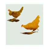 Two Chickens 2013 Giclee Print by Simon Fletcher