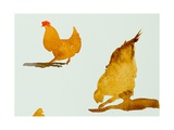 Chickens, One Scratching, 2013 Giclee Print by Simon Fletcher