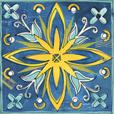 Tuscan Sun Tile I Color Poster by Anne Tavoletti