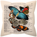Butterflies Pillow Throw Pillows