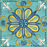 Tuscan Sun Tile IV Color Prints by Anne Tavoletti