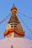Swayambhunath Temple in Kathmandu, Nepal Photographic Print by  zanskar