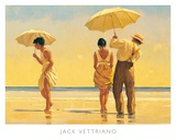 Strandtafereel met parasols, Mad Dogs Kunst van Vettriano, Jack