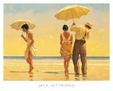 Strandtafereel met parasols, Mad Dogs Poster van Vettriano, Jack