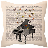 Butterfly Music Pillow Throw Pillows