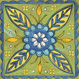 Tuscan Sun Tile III Color Kunstdruck von Anne Tavoletti