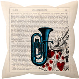 White Rabbit Pillow Throw Pillows