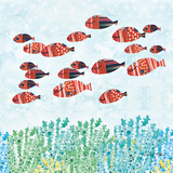 Redfish School Posters by Sarah Millin