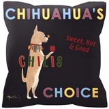 Chihuahua's Choice Pillow Throw Pillow