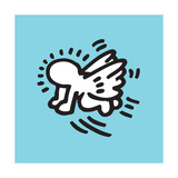 Flying Baby Giclée-tryk af Keith Haring