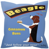 Beagle Cinnamon Buns Pillow Throw Pillows