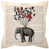 Learned Elephant Pillow Throw Pillows